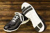 Black Leather Man's Shoe