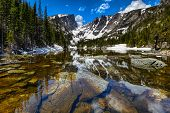 pic of rocky-mountains  - Dream Lake at the Rocky Mountain National Park - JPG