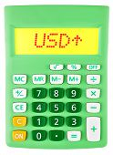Calculator With Usd On Display On White