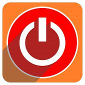 power red flat icon isolated