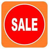 sale red flat icon isolated