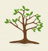 Abstract tree, vector illustration.