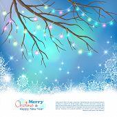 Christmas Light Bulbs Vector Background