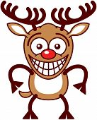 Funny Xmas reindeer feeling embarrassed