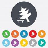 Tree sign icon. Break down tree symbol.