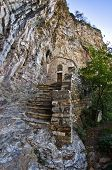 Detail from Saint Sava hermitage high up in a mountain near Studenica monastery