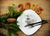 New Year's Eve 2015 In Silver Tableware