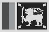 stock photo of grayscale  - An Illustrated grayscale flag of the country of Sri Lanka - JPG