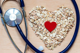 stock photo of oats  - Dieting healthcare concept - JPG