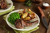 foto of lamb  - Organic Grilled Lamb Chops with Garlic and Lime - JPG