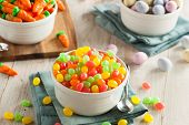 pic of easter candy  - Sweet Sugary Easter Candy in a Bowl  - JPG