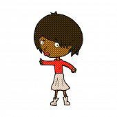 stock photo of raised-eyebrow  - retro comic book style cartoon woman raising eyebrow - JPG
