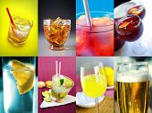 foto of alcoholic drinks  - Collection of eight images of assorted alcoholic drinks - JPG