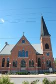 stock photo of deacon  - This is the First Evagenlical Church in Beardstown - JPG