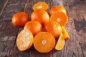 foto of clementine-orange  - fresh clementine or orange - JPG