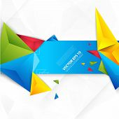 picture of polygon  - Vector color background abstract polygon triangle - JPG