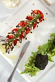 stock photo of rocket salad  - Caprese Salad  - JPG