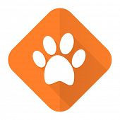 foto of flat-foot  - foot orange flat icon   - JPG