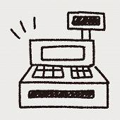 foto of cash register  - Cash Register Doodle Drawing - JPG