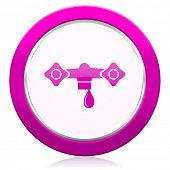 image of hydraulics  - water violet icon hydraulics sign  - JPG