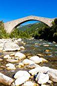 pic of reining  - bridge Pont de la Reine Jeanne - JPG
