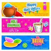 foto of dharma  - illustration of Holi banner for sale and promotion - JPG