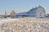 stock photo of dairy barn  - Historic Dairy Barn at Creamer - JPG