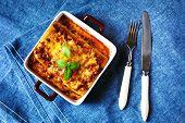 stock photo of lasagna  - Italian Food - JPG