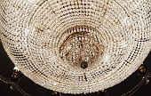 stock photo of chandelier  - Chrystal chandelier close - JPG