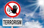 picture of terrorist  - stop terrorism war on terror no terrorist attacks - JPG