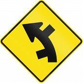Постер, плакат: Offset Roads In Curve In Australia