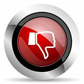 stock photo of dislike  - dislike red glossy web icon original modern design for web and mobile app on white background  - JPG