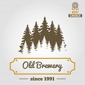 Set of vintage logo, badge, emblem or logotype elements for beer, beer shop, home brew, tavern, bar, poster