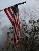 Foggy Day Flag Background Wallpaper