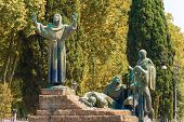 Постер, плакат: Statue Of St Francis Of Assisi In Rome Italy