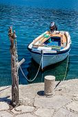 stock photo of old boat  - Traditional old fishing boat, island Mljet, Croatia