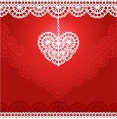 vector kant hart voor bruiloft uitnodiging