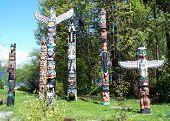 stock photo of indian totem pole  - Indian art - JPG