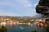 Assos at the peninsula on Kefalonia in Greece