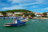 Boats over the sea in Buzios, Rio de janeiro Brazil