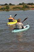Mature Canoe Couple