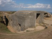 German Fortress Bunker In Normandy, France