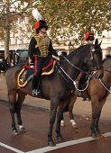 Mounted artillery in full regalia.