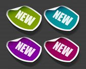 Vector new message stickers set. Easy replace background and edit colors.