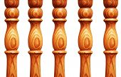 picture of pilaster  - Wooden pilasters isolated on the white background - JPG