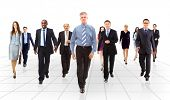 stock photo of crew cut  - business team going - JPG