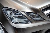 PARIS, FRANCE - OCTOBER 02: Paris Motor Show 2008, Mercedes-Benz Fascination Concept, front light de