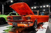 HELSINKI, FINLAND - OCTOBER 3: X-Treme Car Show, showing 1965 Ford Mustang Fasback on October 3, 200