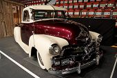 HELSINKI, FINLAND - OCTOBER 3: X-Treme Car Show, showing 1954 Chevrolet Pickup on October 3, 2009 in