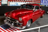 HELSINKI, FINLAND - OCTOBER 3: X-Treme Car Show, showing 1949 Chevrolet Fleetline Special on October